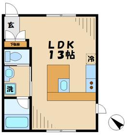 ブランシュール2階Fの間取り画像