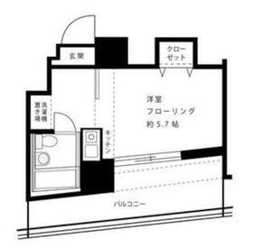 シーズ西横浜2階Fの間取り画像