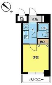 スカイコート世田谷用賀第24階Fの間取り画像