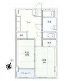 三和ビルディング3階Fの間取り画像
