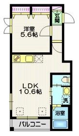 アーバン大崎3階Fの間取り画像
