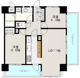 コスモプレイス亀戸6階Fの間取り画像