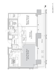 六本木グランドタワーレジデンス19階Fの間取り画像