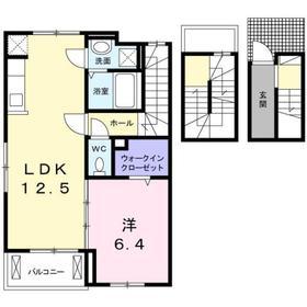 豊田駅 バス14分「大和田坂上」徒歩3分3階Fの間取り画像