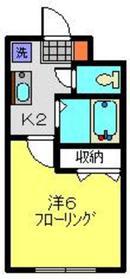 日吉本町駅 徒歩20分2階Fの間取り画像