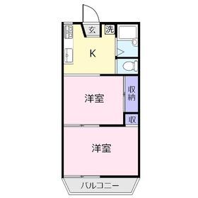 ウェリナ上福岡1階Fの間取り画像