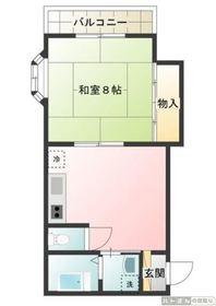 第三 ブランシャトレ2階Fの間取り画像