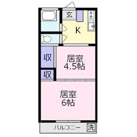 アパートメント正興No.31階Fの間取り画像