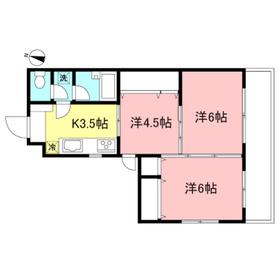 ウェル駒沢2階Fの間取り画像