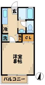 海老名駅 バス22分「依知小学校」徒歩6分1階Fの間取り画像