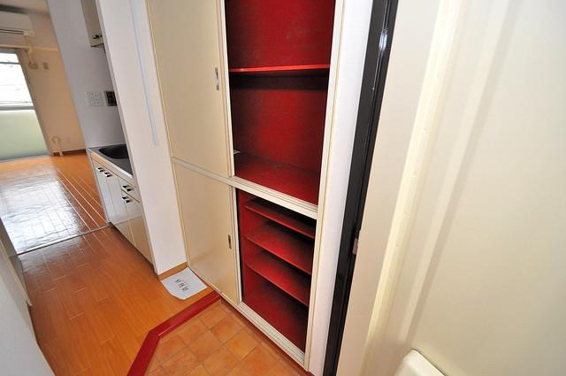 ラフォーレ菱屋西Ⅱ 玄関には大容量のシューズボックスがありますよ。
