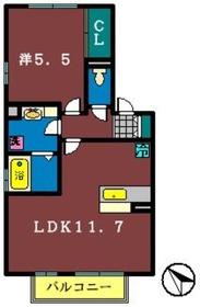 アン・プレール(藤崎)2階Fの間取り画像