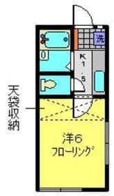 フジミハイツ1階Fの間取り画像