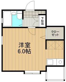 湘南テラスⅡ3階Fの間取り画像