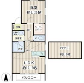 アジュールハイム2階Fの間取り画像