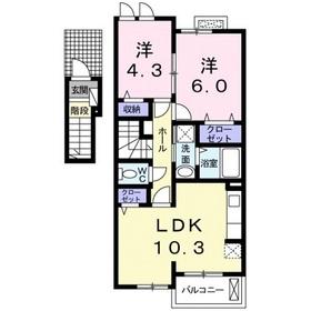 ヴィレッタ2階Fの間取り画像