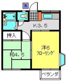 石川町駅 徒歩12分2階Fの間取り画像