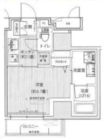 グランフォークス神田イーストタワー9階Fの間取り画像