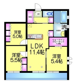 GAIA NST ガイアネスト4階Fの間取り画像