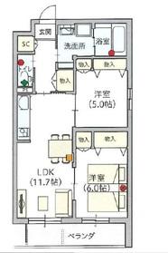 ヘーベルVillage堀ノ内2階Fの間取り画像