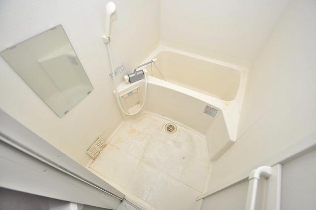 ディナスティ東大阪センターフィールド 単身さんにちょうどいいサイズのバスルーム。