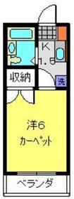 元住吉駅 徒歩14分2階Fの間取り画像