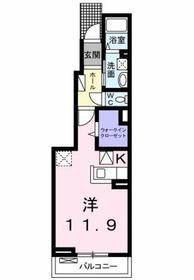 中神駅 徒歩8分1階Fの間取り画像