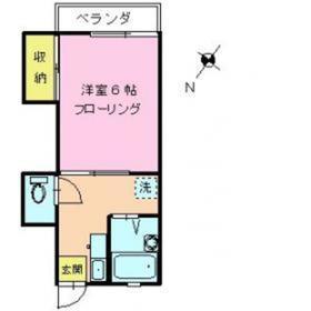 ファミーホシカワ2階Fの間取り画像