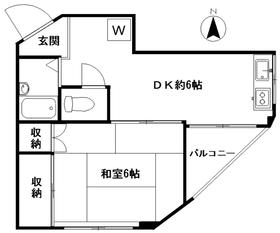 中野ビル3階Fの間取り画像
