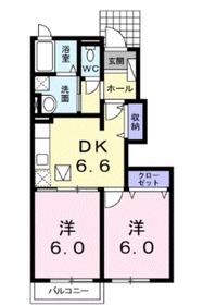 アレーズ1階Fの間取り画像