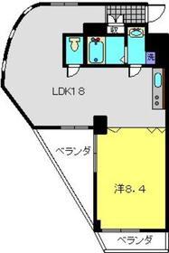 大倉山駅 徒歩9分2階Fの間取り画像