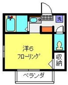 ESTIUM  TSUKASA1階Fの間取り画像