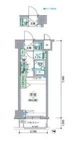 リヴシティ横濱新川町7階Fの間取り画像