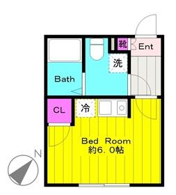 生田駅 徒歩3分2階Fの間取り画像