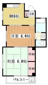 小川レジデンス3階Fの間取り画像