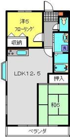 ハピネス飯田Ⅰ2階Fの間取り画像