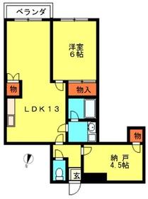 ロワイヤルシャバール3階Fの間取り画像