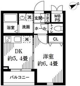 グリーニエ西新宿弐番館2階Fの間取り画像