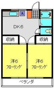 新横浜駅 徒歩38分2階Fの間取り画像