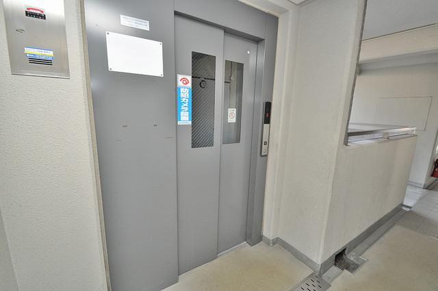 ソレアード三貴 嬉しい事にエレベーターがあります。重い荷物を持っていても安心