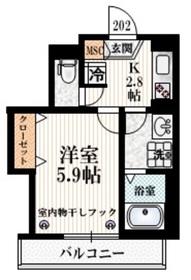 ステラ江戸川橋2階Fの間取り画像