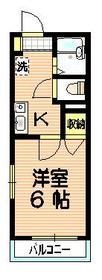 スクエアII1階Fの間取り画像