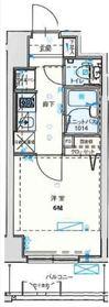 バージュアル横濱鶴見9階Fの間取り画像