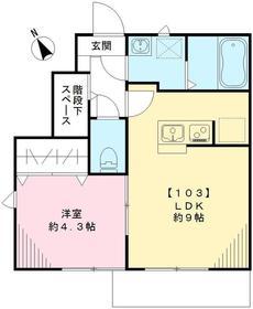 メープル吉祥寺1階Fの間取り画像