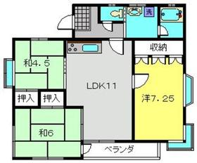 ハイツパークサイドNO.12階Fの間取り画像