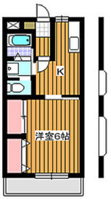 地下鉄赤塚駅 徒歩6分1階Fの間取り画像