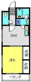 カーサしらい2号棟1階Fの間取り画像