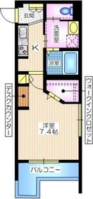 仮称 中央1丁目メゾン4階Fの間取り画像
