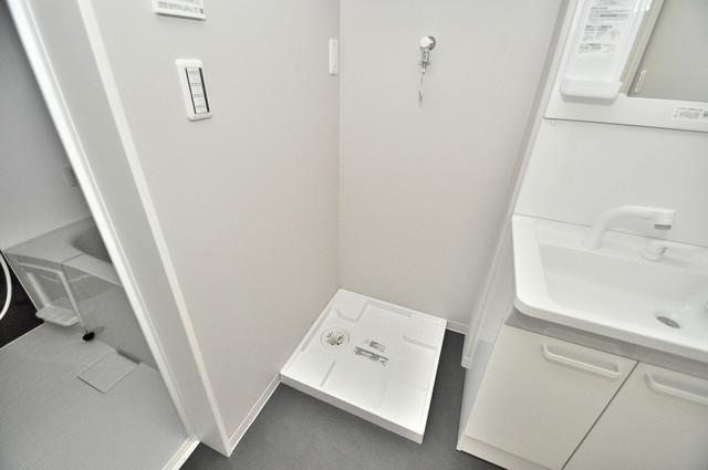 Lumo布施(ルーモフセ) 嬉しい室内洗濯機置場。これで洗濯機も長持ちしますね。