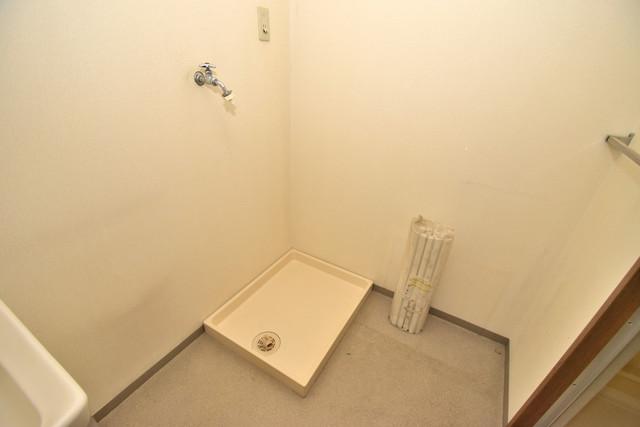 ノースフライト 嬉しい室内洗濯機置場。これで洗濯機も長持ちしますね。